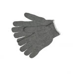 Heavy Weight String Knit Gloves, Gray, Small