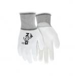 Polyurethane Coated Gloves, White, Large
