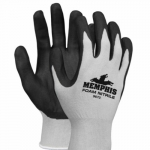 Small, Foam Nitrile Gloves, Black/Gray