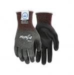 Ninja Max Bi-Polymer Coated Palm Gloves, Black, Large