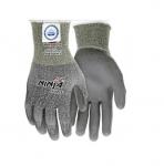 Ninja Max Polyurethane Coated Palm Gloves, Gray, Large
