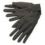 Large Knit Wrist Brown Cotton Jersey Gloves
