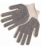 Large 7 Gauge PVC Dot String Knit Gloves