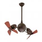 39-in 101W Acqua Ceiling Fan w/Light Kit, AC, 3-Speed, 6-Wood Blades, Textured Bronze