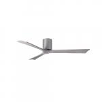 60-in 32W Irene-3H Ceiling Fan w/Remote, DC, 6-Speed, 3-Barn Wood Blades, Brushed Nickel
