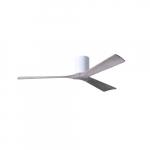 60-in 32W Irene-3H Ceiling Fan w/Remote, DC, 6-Speed, 3-Barn Wood Blades, Gloss White
