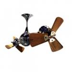62-in 91W Italo Ventania Ceiling Fan, AC, 3-Speed, 6-Wood Blades, Black Nickel