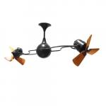 62-in 91W Italo Ventania Ceiling Fan, AC, 3-Speed, 6-Wood Blades, Black
