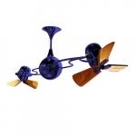62-in 91W Italo Ventania Ceiling Fan, AC, 3-Speed, 6-Wood Blades, Blue
