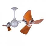 62-in 91W Italo Ventania Ceiling Fan, AC, 3-Speed, 6-Wood Blades, Damp, Brushed Nickel