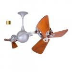 62-in 91W Italo Ventania Ceiling Fan, AC, 3-Speed, 6-Wood Blades, Brushed Brass