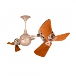 62-in 91W Italo Ventania Ceiling Fan, AC, 3-Speed, 6-Wood Blades, Brushed Copper