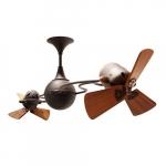 62-in 91W Italo Ventania Ceiling Fan, AC, 3-Speed, 6-Wood Blades, Bronze