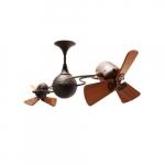 62-in 91W Italo Ventania Ceiling Fan, AC, 3-Speed, 6-Wood Blades, Bronzette