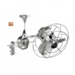 60-in 94W Italo Ventania Ceiling Fan, AC, 3-Speed, 6-Metal Blades, Polished Copper