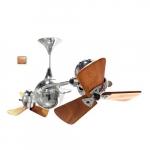 62-in 91W Italo Ventania Ceiling Fan, AC, 3-Speed, 6-Wood Blades, Polished Copper