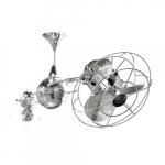 60-in 94W Italo Ventania Ceiling Fan, AC, 3-Speed, 6-Metal Blades, Polished Chrome