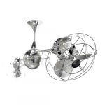 60-in 94W Italo Ventania Ceiling Fan, AC, 3-Speed, 6-Metal Blades, Damp, Polished Chrome