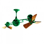 62-in 91W Italo Ventania Ceiling Fan, AC, 3-Speed, 6-Wood Blades, Green