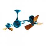 62-in 91W Italo Ventania Ceiling Fan, AC, 3-Speed, 6-Wood Blades, Light Blue