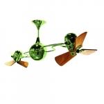 62-in 91W Italo Ventania Ceiling Fan, AC, 3-Speed, 6-Wood Blades, Light Green
