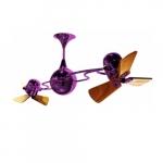 62-in 91W Italo Ventania Ceiling Fan, AC, 3-Speed, 6-Wood Blades, Purple
