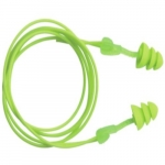 Reusable Earplugs, Corded, TPE, Green