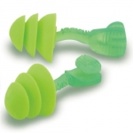 Reusable Earplugs, Foam, Uncorded, Green