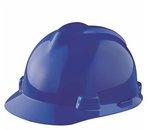 Blue V-Gard Slotted Protective Hard Hat