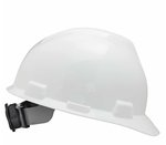 White V-Guard Safety Slotted Protective Cap