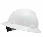 White Non-Slotted V-Gard Protective Hat