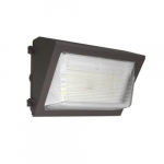 40W Wallmax Wall Pack, Open Face, Bronze Finish, Dimmable, 5000K
