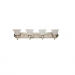 40W LED Vanity Light Fixture, 4 Light, 3200 lm, 2700K, Nickel