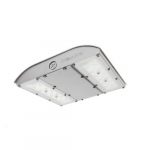 28W LED MPulse Canopy Light, 0-10V Dim, 150W MH Retrofit, 3885 lm, 4000K, Silver