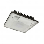 53W LED Low-Profile Canopy Light w/ Photocell, 0-10V Dim, 250W MH Retrofit, 6510lm, 5000k