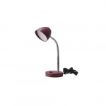 3.5W LED Desk Lamp, 25W Inc Retrofit, 220 lm, 3000K, Burgundy