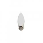 4W LED B10 Bulb, 40W Inc Retrofit, Dim, E26, 320 lm, 2700K