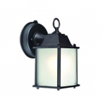 9.5W LED Outdoor Wall Lantern w/ Motion, 60W Inc Retrofit, 551 lm, 2700K