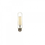 8.5W LED T12 Filament Bulb, Dimmable, E26, 800 lm, 120V, 2700K
