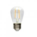 2W LED Clear Filament Light Bulb, 11W Inc Retrofit, E26 Base, 200 lm, 2700K