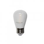 2W LED Frosted Filament Light Bulb, 11W Inc Retrofit, E26 Base, 160 lm, 2700K