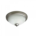 17W LED Flush Mount Ceiling Light, 0-10V Dim, 75W Inc Retrofit, 1041 lm, 2700K