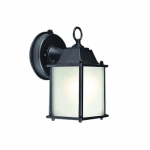 9W Decorative LED Wall Light w/ GU24 Base, Frosted Glass, 2700K