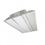 128W LED Linear High Bay w/Motion and Plug, 0-10V Dimmable, 400W MH Retrofit, 5000K