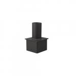 "4"" Square Bracket for LED Flood and Area Lights, Vertical, Bronze"