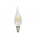 4W LED B10 Filament Bulb, 0-10V Dimmability, 40W Inc Retrofit, E12 Base, 330 lm, 2700K