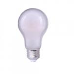 8.5W LED Frosted Omni A19 Filament Bulb, 0-10V Dim, 60W Inc Retrofit, 800 lm, 3000K
