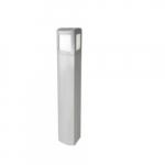 6-Ft 13W LED MPulse Bollard Fixture, Type V, 50W MH Retrofit, 893 lm, 5000K, Silver