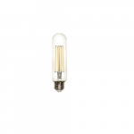 8.5W LED T12 Filament Bulb, Dimmable, E26, 800 lm, 120V, 3000K