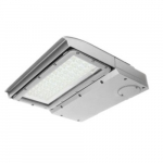 100W LED Area Light, Type IV, 0-10V Dimming, 250W MH Retrofit, 12550 lm, 5000K, Silver